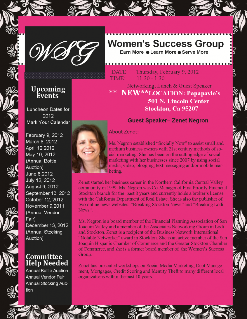 Women's Success Group Feb 2012
