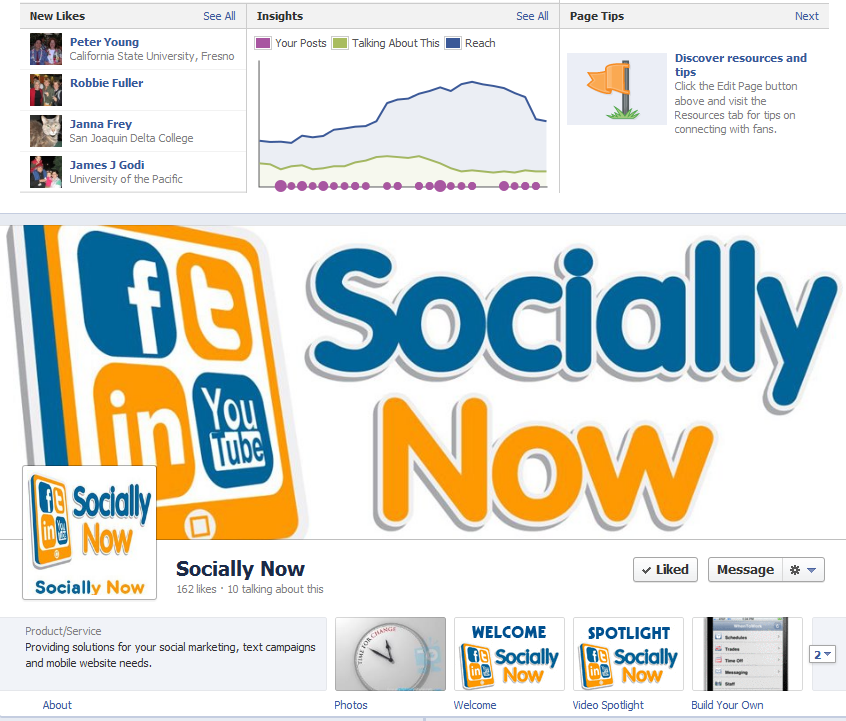 Socially Now Facebook Timeline Page 2012