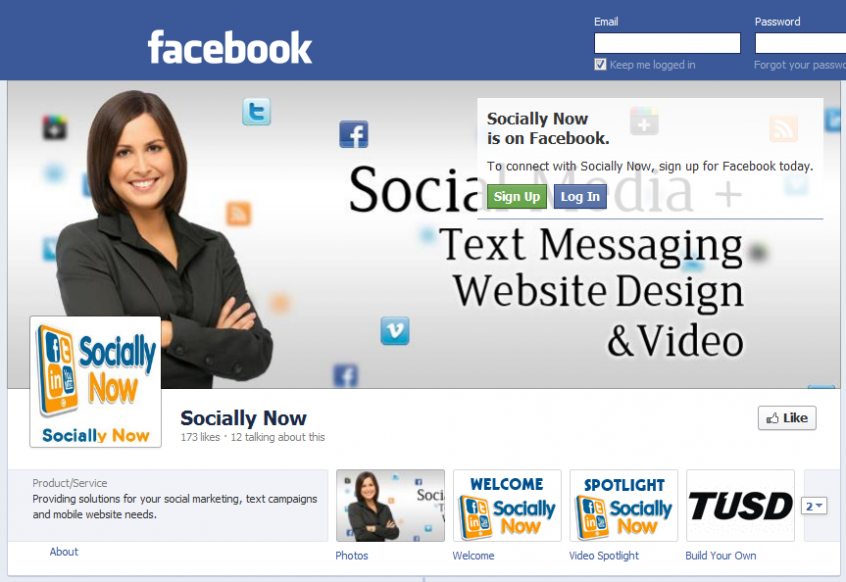Socially Now Facebook Timeline page March 2012